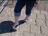 Nordsee - Test mit nackten Füßen **Fuß Fetisch